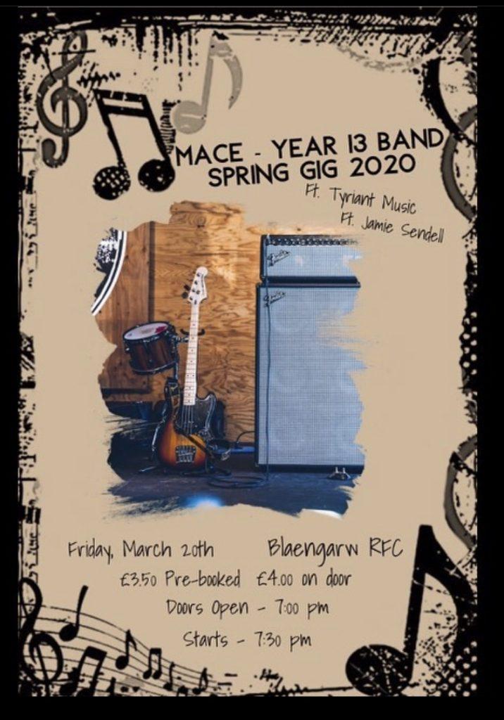 CCYD Yr13 Music gig at Blaengarw RFC