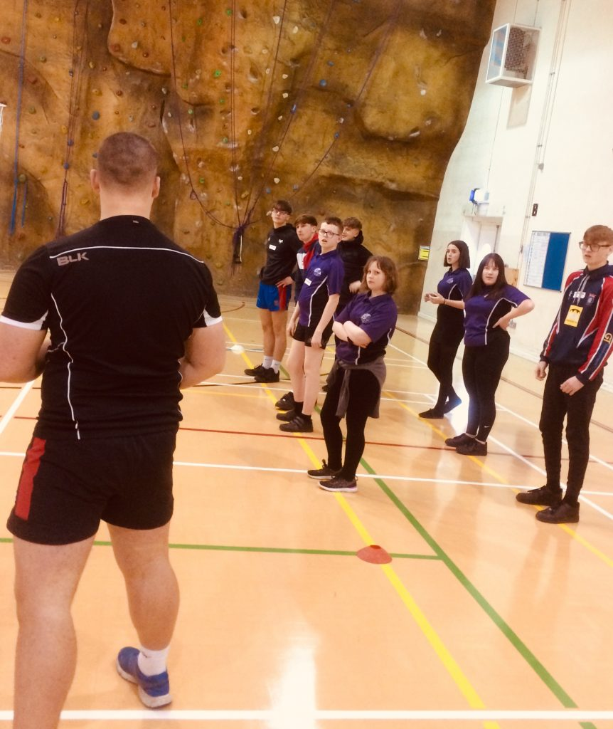 Year 11 CCYD Tackle pupils visit Pencoed College